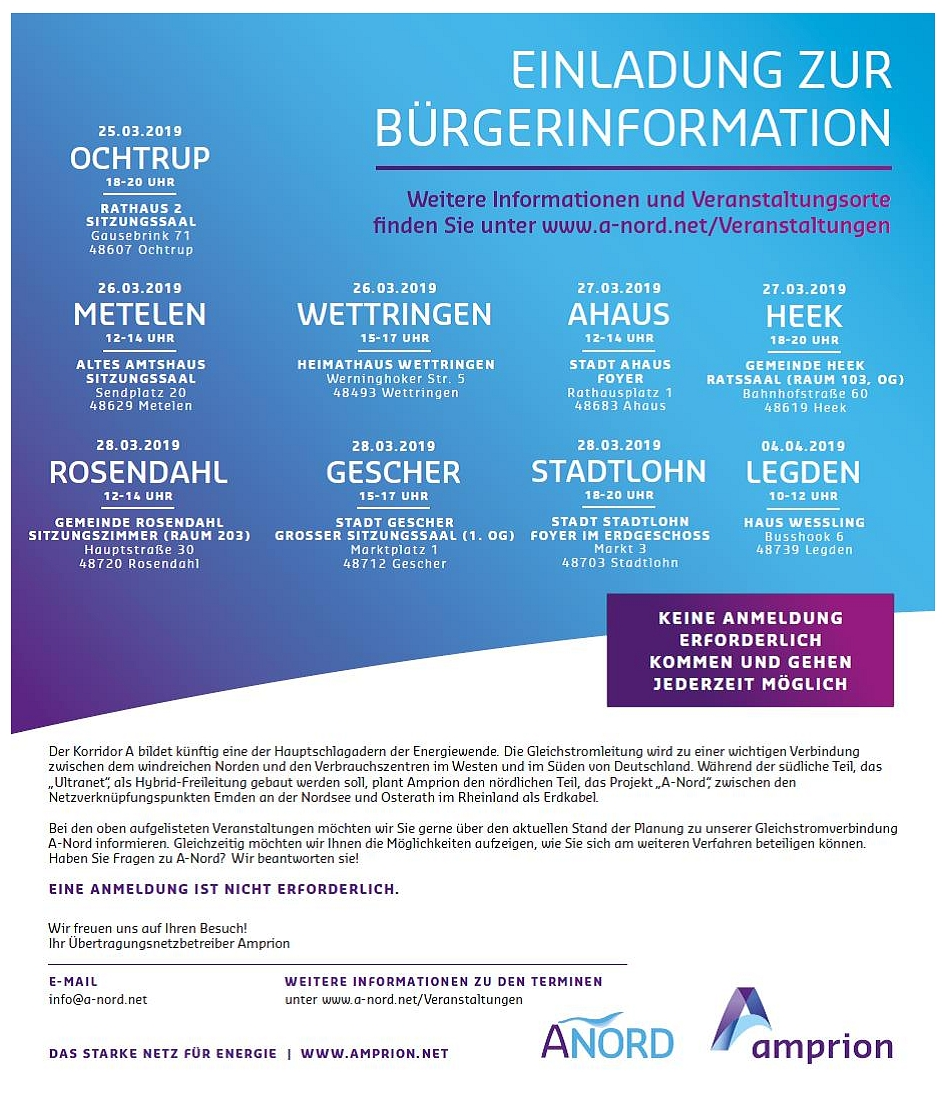 Bürgerinformation Amprion © Amprion